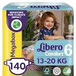 Libero Comfort 6 pelenka, 13-20 kg, Megabox, 140 db
