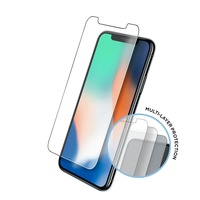 Eiger Tri Flex High Impact Film Screen Protector - качествено защитно покритие за дисплея на iPhone 11 Pro, iPhone XS, iPhone X (два броя)
