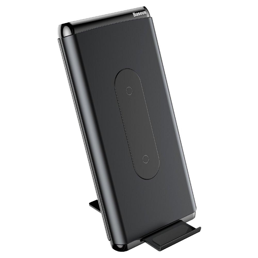 Baseus Qi Power Bank 10000 mAh 15W USB Type C külső akkumulátor vezeték nélküli töltéssel fekete (WXHSD D01)