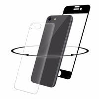 Eiger 3D 360 Screen Protector Back and Front Glass - калени стъклени защитни покрития за дисплея и задната част на iPhone 8, iPhone 7 (черен-прозрачен)