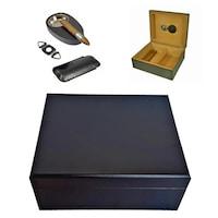 Кутия за пури Eleon 920300, подаръчен комплект с 6 броя аксесоари, 30 пури, черен