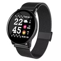 Водоустойчив Спортен Смарт Часовник KW8, Пулс, Kрачки, Разстояние,Мултиспорт, Bluetooth, Black