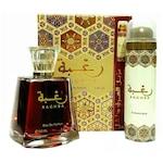 Комплект за жени Lattafa, Raghba: Парфюмна вода, 100 мл + Дезодорант спрей, 50 мл