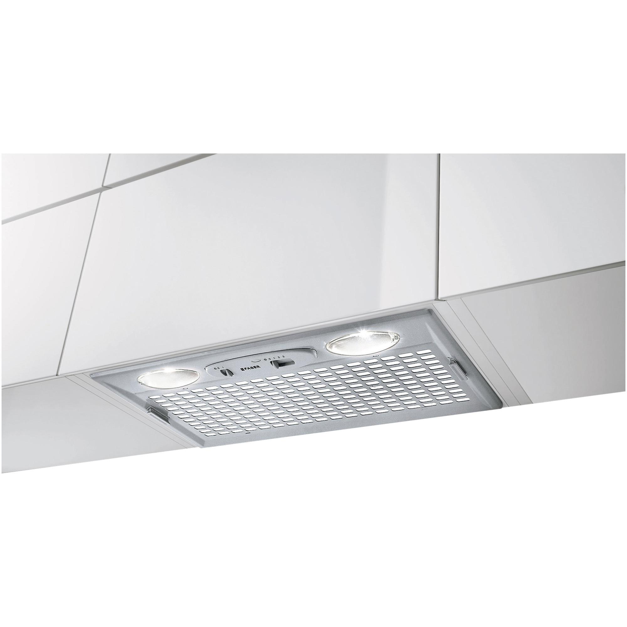 Fotografie Hota incorporabila Faber INCA SMART LG A70, Putere de absorbtie 300 mc/h, 1 motor, Iluminare LED, 70 cm, Gri