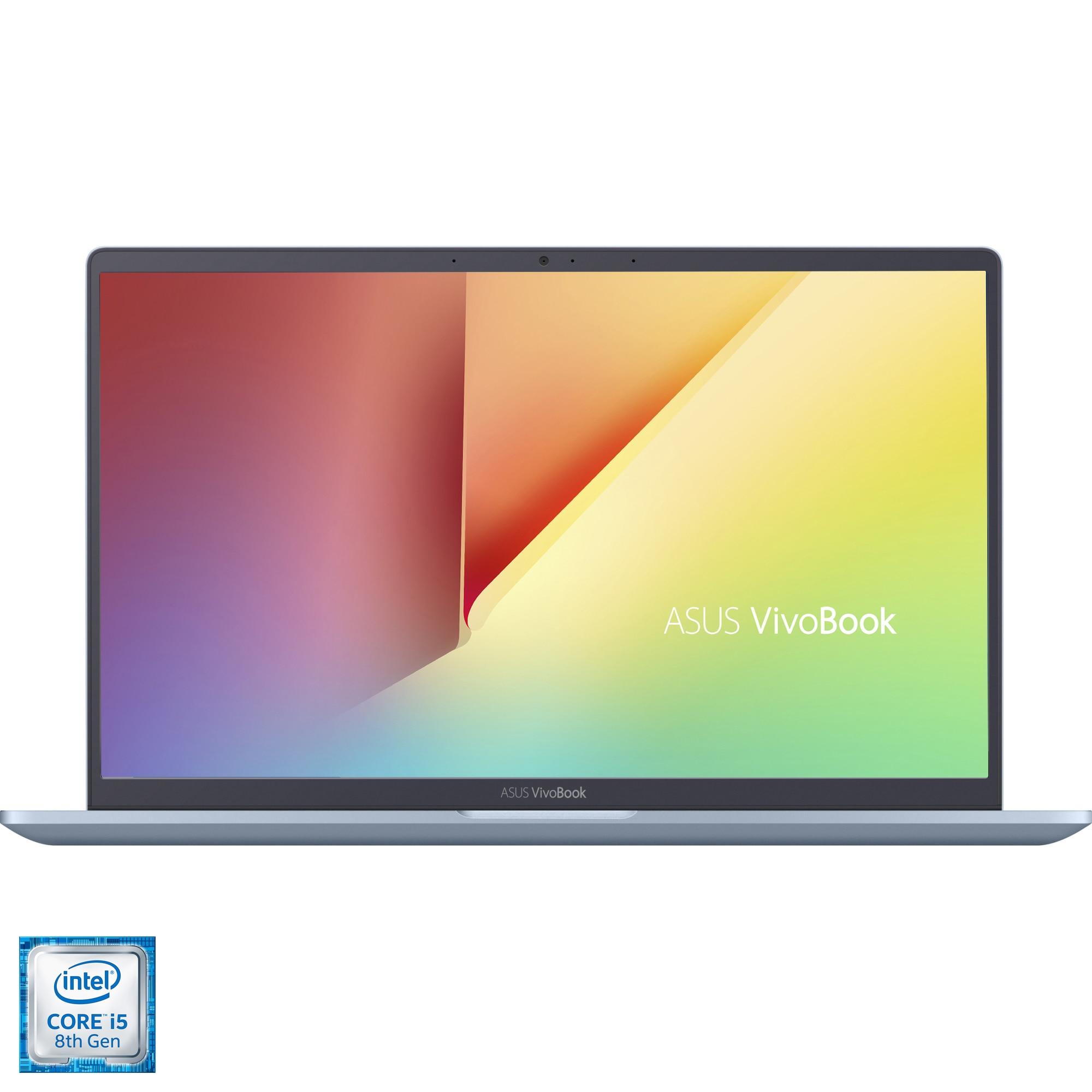 "Fotografie Laptop ultraportabil ASUS VivoBook 14 X403FA cu procesor, 14"", Intel® Core™ i5-8265U pana la 3.90 GHz Whiskey Lake, Full HD, 16GB, 512GB SSD, Intel UHD Graphics 620, Endless OS, Silver Blue"