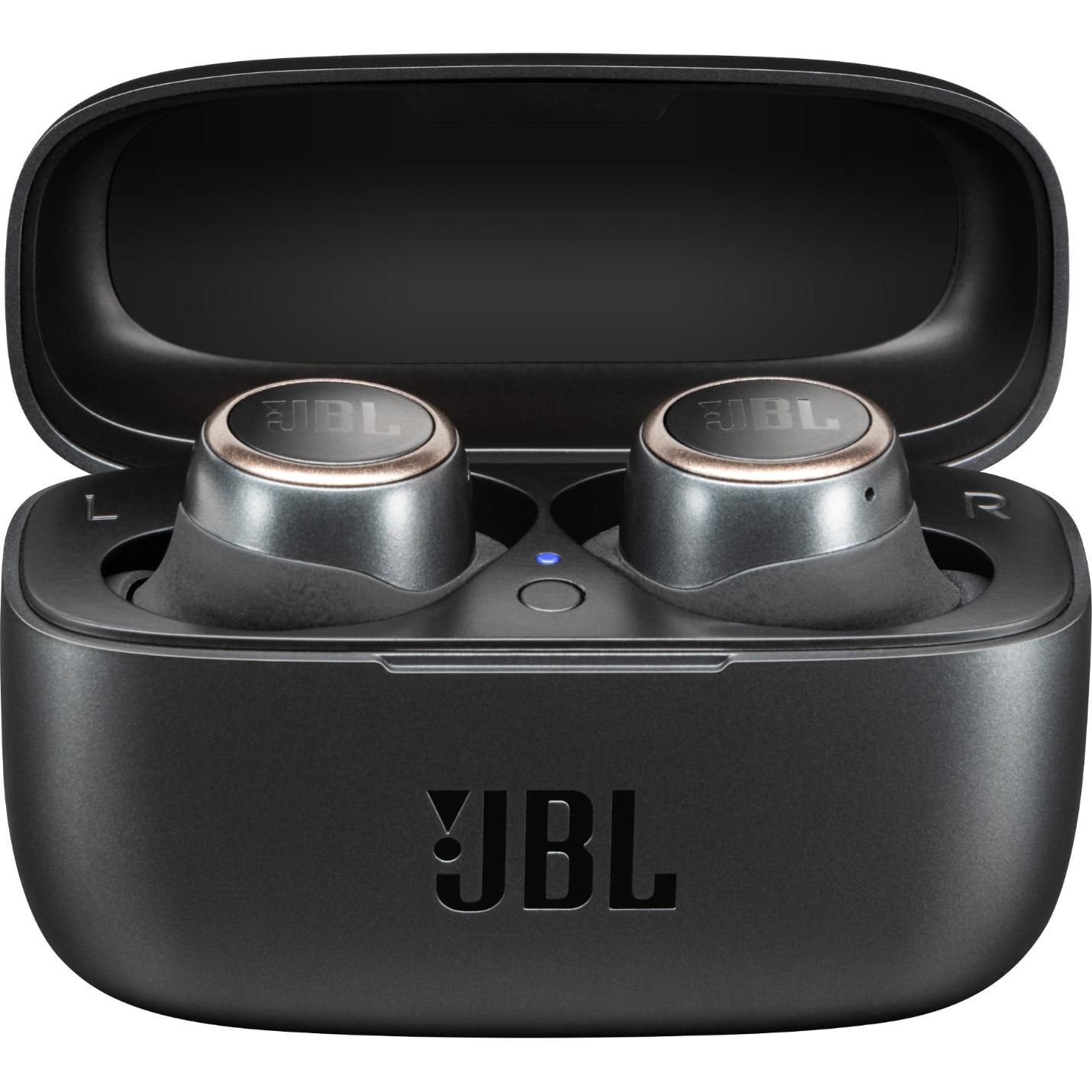 Fotografie Casti audio in-ear true wireless JBL LIVE 300TWS, JBL Signature Sound, Ambient Aware, TalkThru, 20H, Voice Assistant, Negru