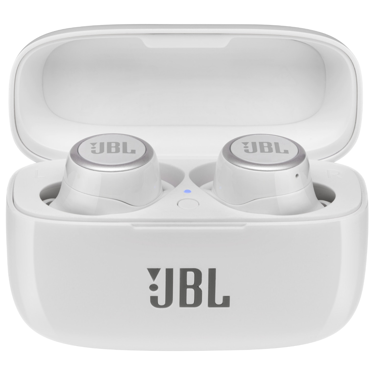 Fotografie Casti audio in-ear true wireless JBL LIVE 300TWS, JBL Signature Sound, Ambient Aware, TalkThru, 20H, Voice Assistant, Alb