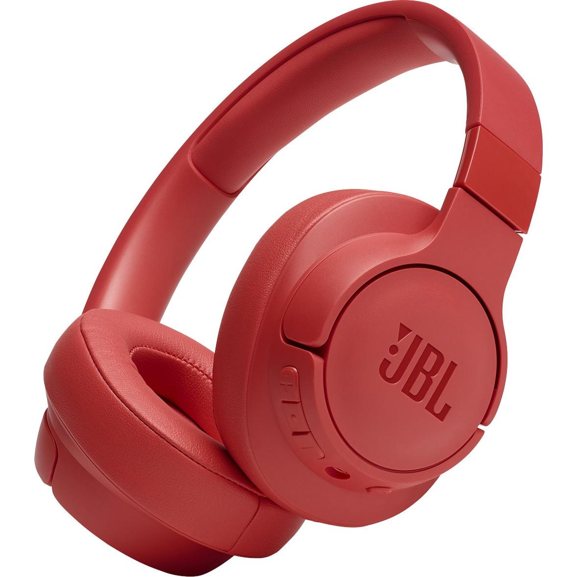 Fotografie Casti Audio Over the Ear JBL Tune 700BT, Wireless, Bluetooth, Autonomie 24 ore, Portocaliu