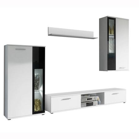 Комплект мебели за дневна Kring Laholm, Бял, 255 x 180 x 30 см