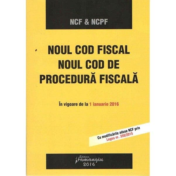 Cod De Procedura Fiscala 2016
