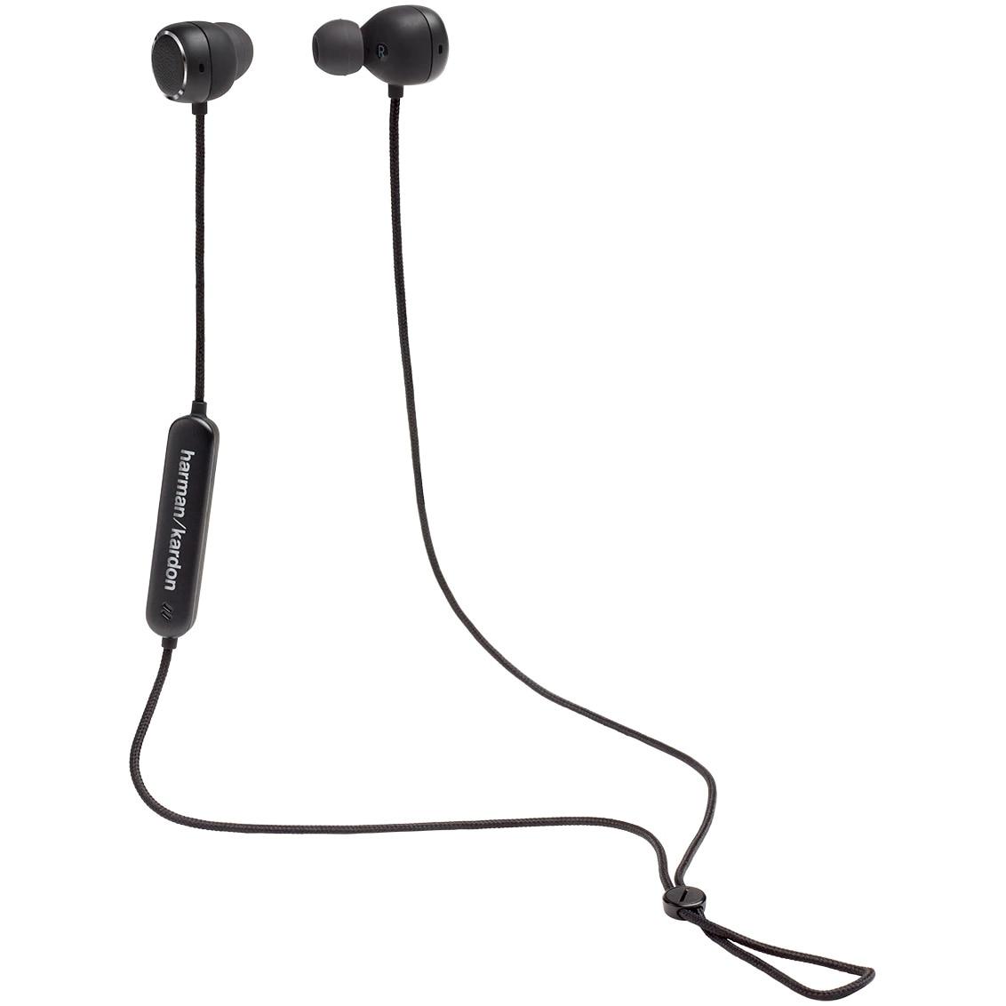 Fotografie Casti audio in-ear Harman Kardon Fly BT, Bluetooth, Asistent Google & Amazon Alexa, Negru