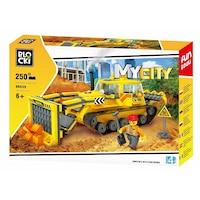 Blocki My City Buldózer építési játék, 250 darab