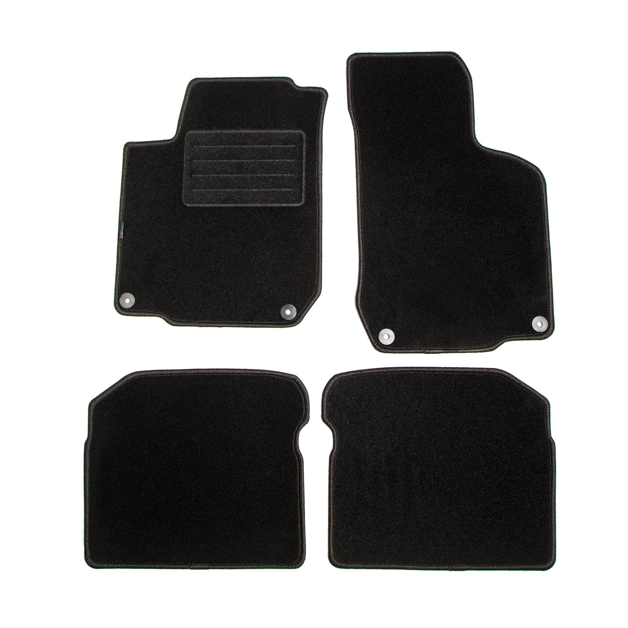 Fotografie Set 4 Covorase mocheta Petex pentru VW Golf VII, Golf VII Variant, Golf VII Alltrack 2012-2013, negru/grafit