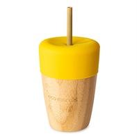 Bambuszüveg gyerekeknek, 110ml Eco Rascals, Sárga