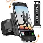 Husa Banderola pentru brat/mana pentru alergat, sala, bicicleta, 360° rotire si cu acces usor la ecran, Armband fitness, sport, jogging, Negru.