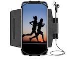 Univerzális Telefon Sport tok, 360°-os elforgatási lehetőség, karra rögzíthető, kocogás, túrázás, kerékpározás, fitnesz, színe fekete