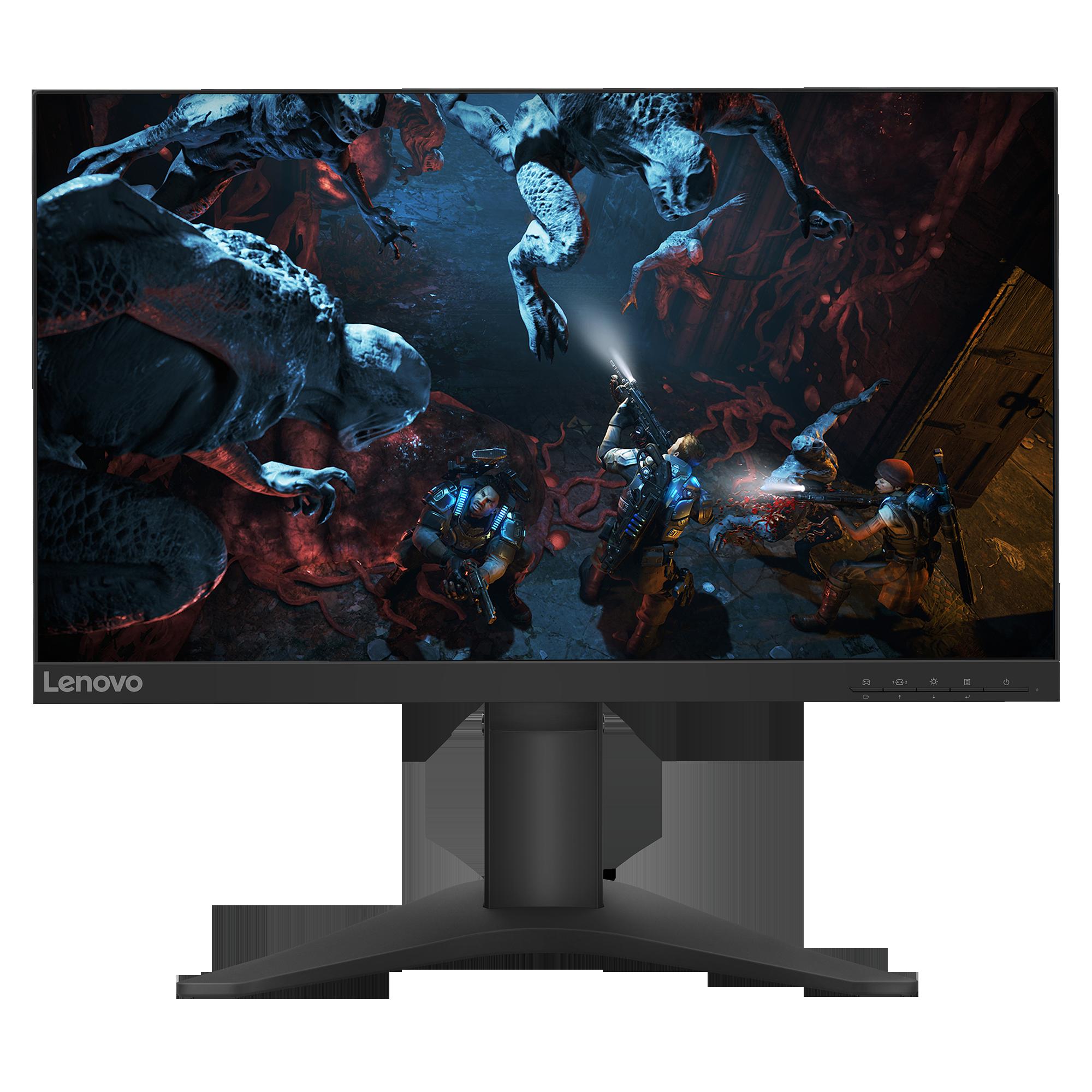 "Fotografie Monitor Gaming LED TN Lenovo 24.5"", FrameLess, Full HD, FreeSync, 1ms, 144Hz, 400 cd/m², DisplayPort, Negru, G25-10"