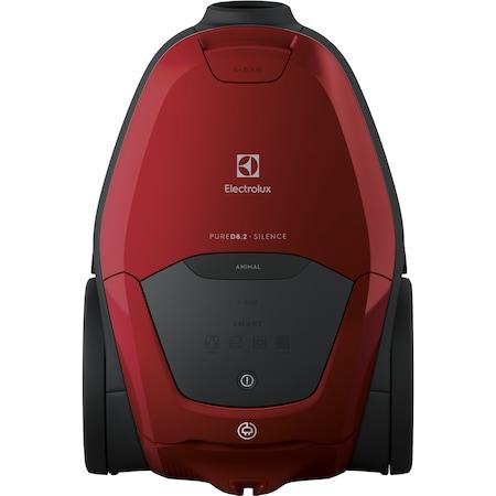 Aspirator cu sac Electrolux Pure D8 PD82-ANIMA, 600W, Clasa A+, functia SMART, telecomanda, afisaj digital, 57 dB(A), Kit pentru animale de casa, Chilli Red