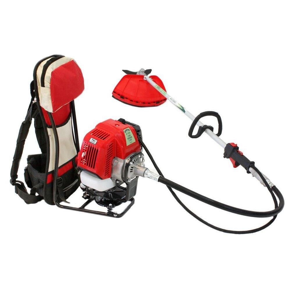 Fotografie Motocoasa tip rucsac Micul Fermier GF-1550, 4.7 CP, 43 CC, 3200 RPM, 150 cm lungime tija, 0.7 l, benzina, accesorii incluse