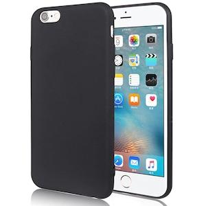 Telefontok iPhone SE 2020 - matt fekete szilikon tok