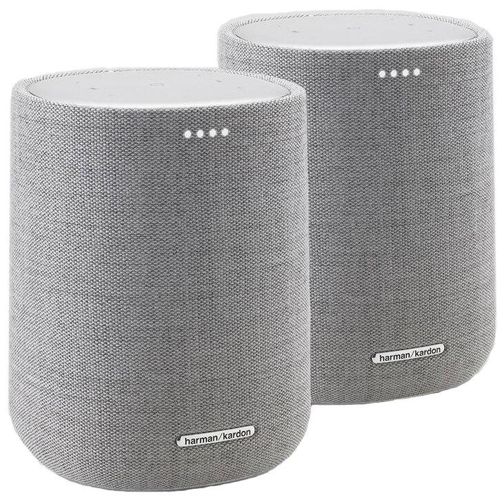 Fotografie Set 2 Boxe Harman Kardon Citation One Duo, Google Assistant, Multi-room Smart Home Control, WiFi & Bluetooth, Gri
