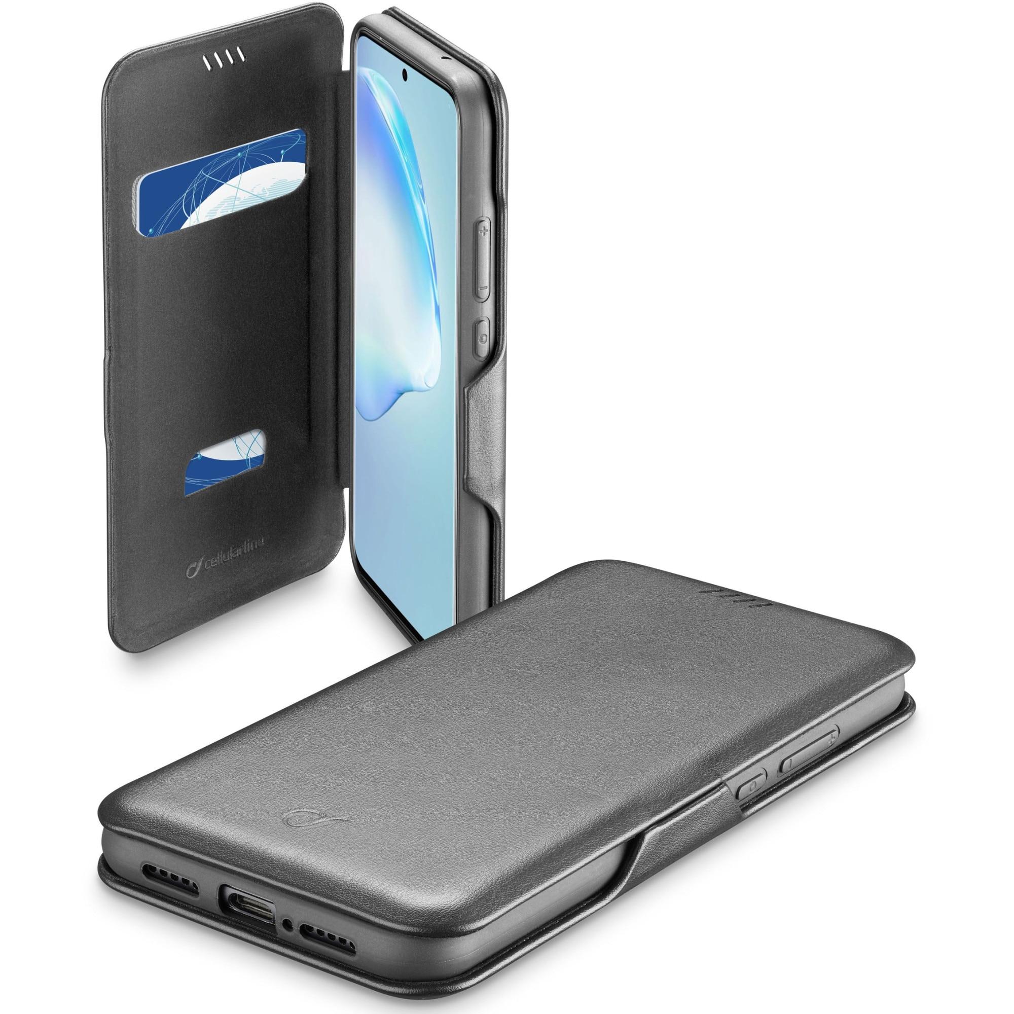 Fotografie Husa de protectie tip Carte Cellularline Book Clutch 2 pentru Samsung Galaxy S20 Plus, Negru
