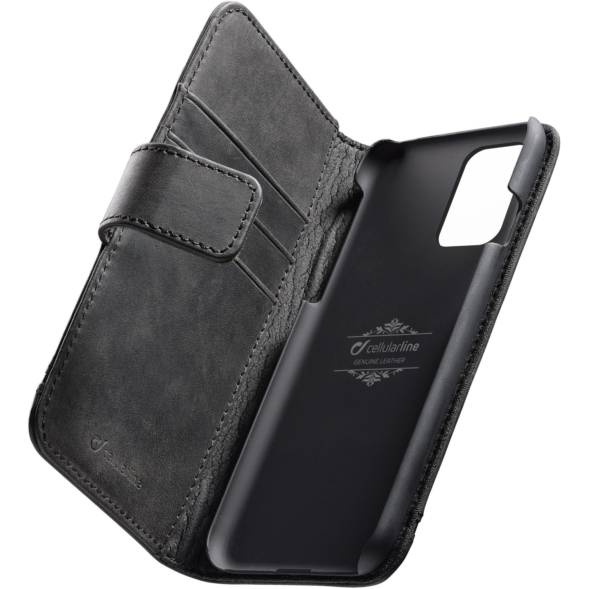 Fotografie Husa de protectie tip Carte Cellularline Supreme pentru Samsung Galaxy S20 Plus, piele, Negru