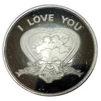 """Монета от чисто сребро """"Обичам те"""""""