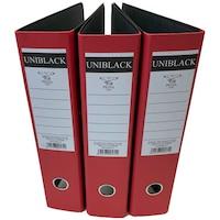 Set 3 Biblioraft, Uniblack, PP, 75mm, Rado, Rosu