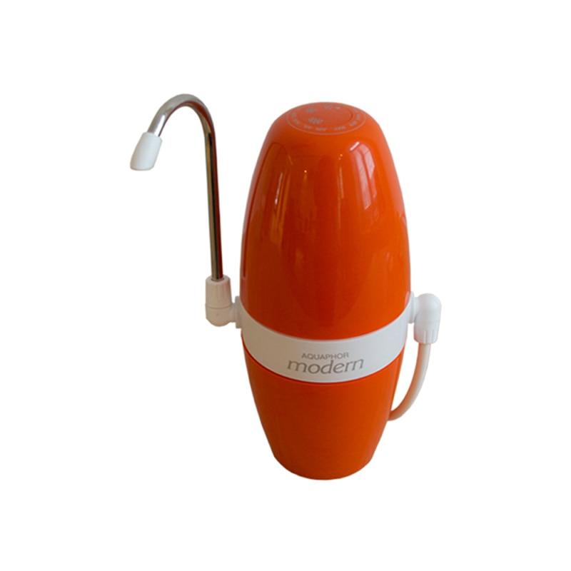 Fotografie Filtru de apa pe chiuveta Aquaphor Modern 2, capacitate filtrare 4000 l, orange