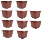 Újratölthető kávékapszula 10db Nescafe Dolce Gusto kávégéphez, barna színben