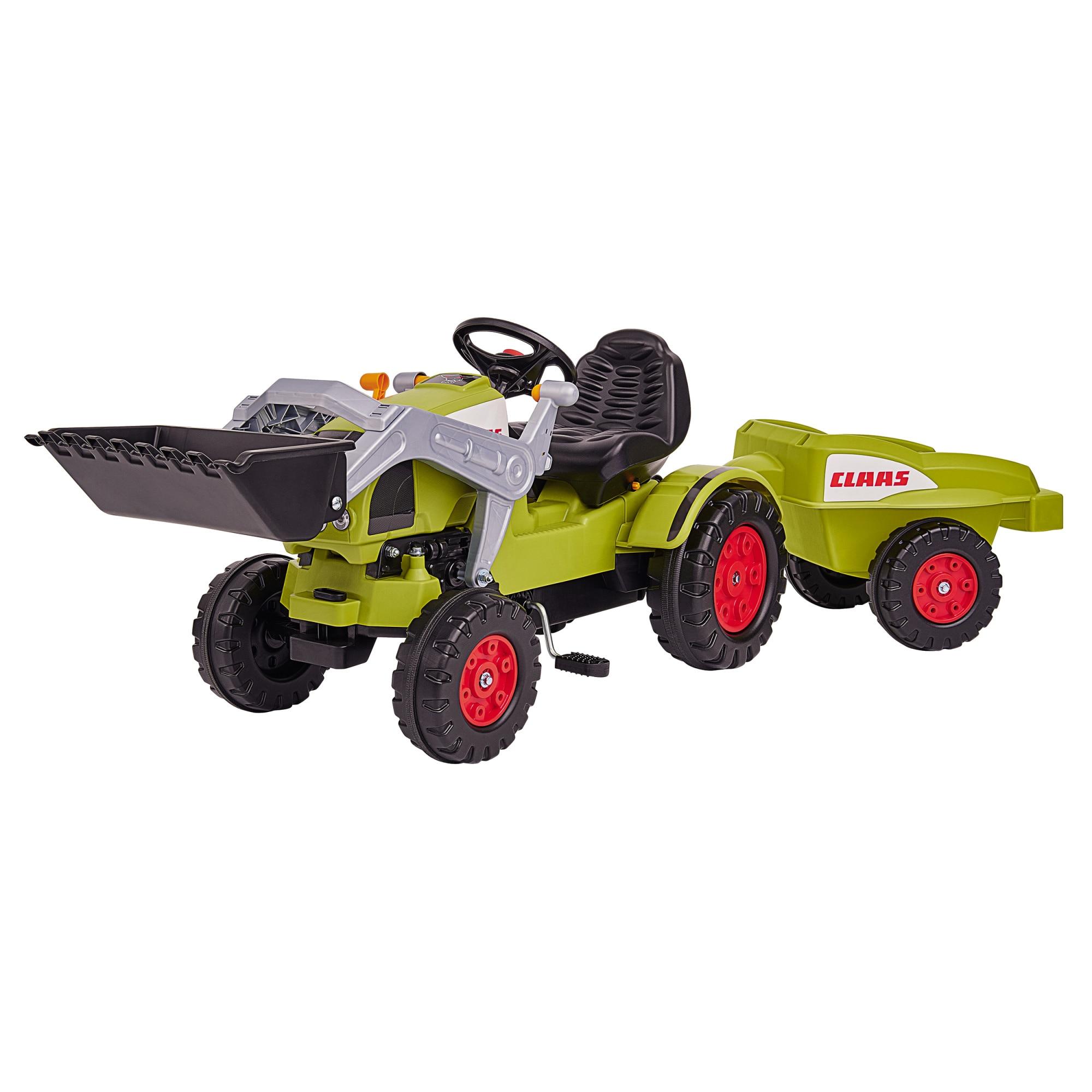 Fotografie Tractor cu pedale si remorca Big - Claas Celtis Loader, Verde