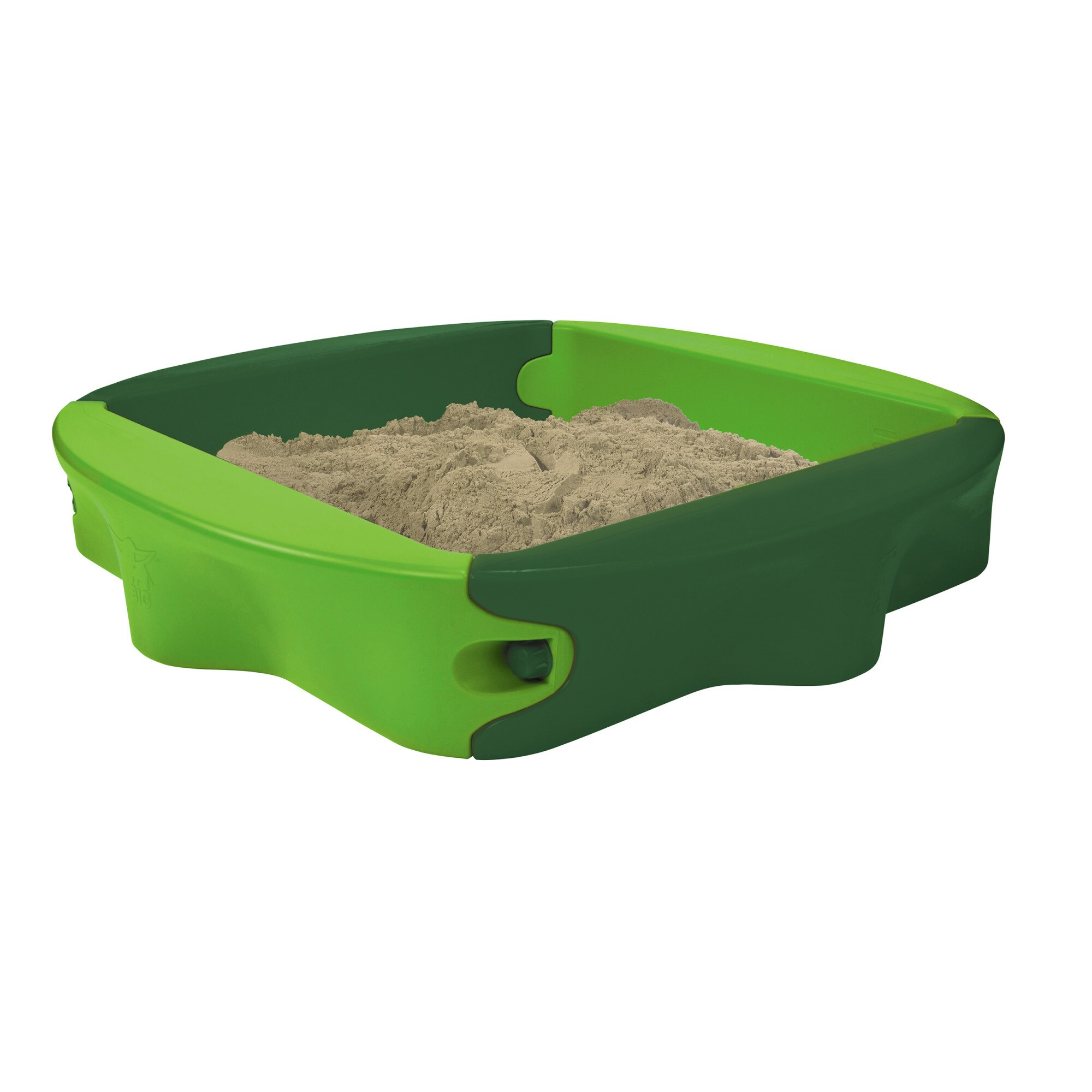Fotografie Spatiu de joaca pentru nisip BBI - Sandy, cu capac, Verde, 138 x 138 x 24 cm