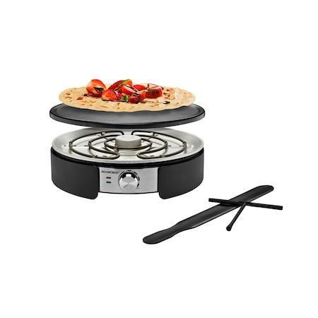 SilverCrest SCM-1500 Crepe Maker elektromos óriás palacsintasütő, 1500W 38 cm óriáspalacsinta sütő levehető ILAG sütőlappal