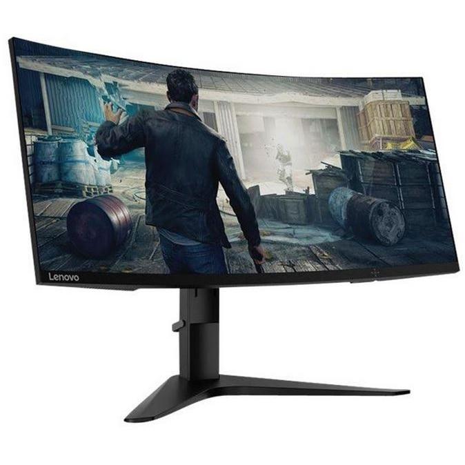 "Fotografie Monitor Gaming Curbat LED VA Lenovo 34"", UltraWide, 1500R, FrameLess, QHD, FreeSync, DisplayPort, 144Hz, Negru, G34w-10"