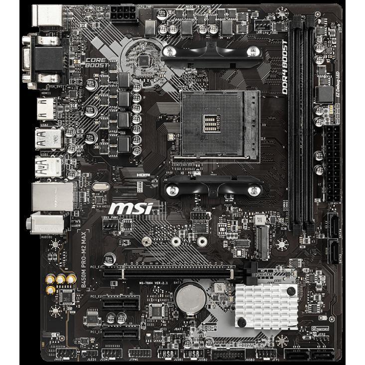 Fotografie Placa de baza MSI B450M PRO-M2 MAX, Socket AM4
