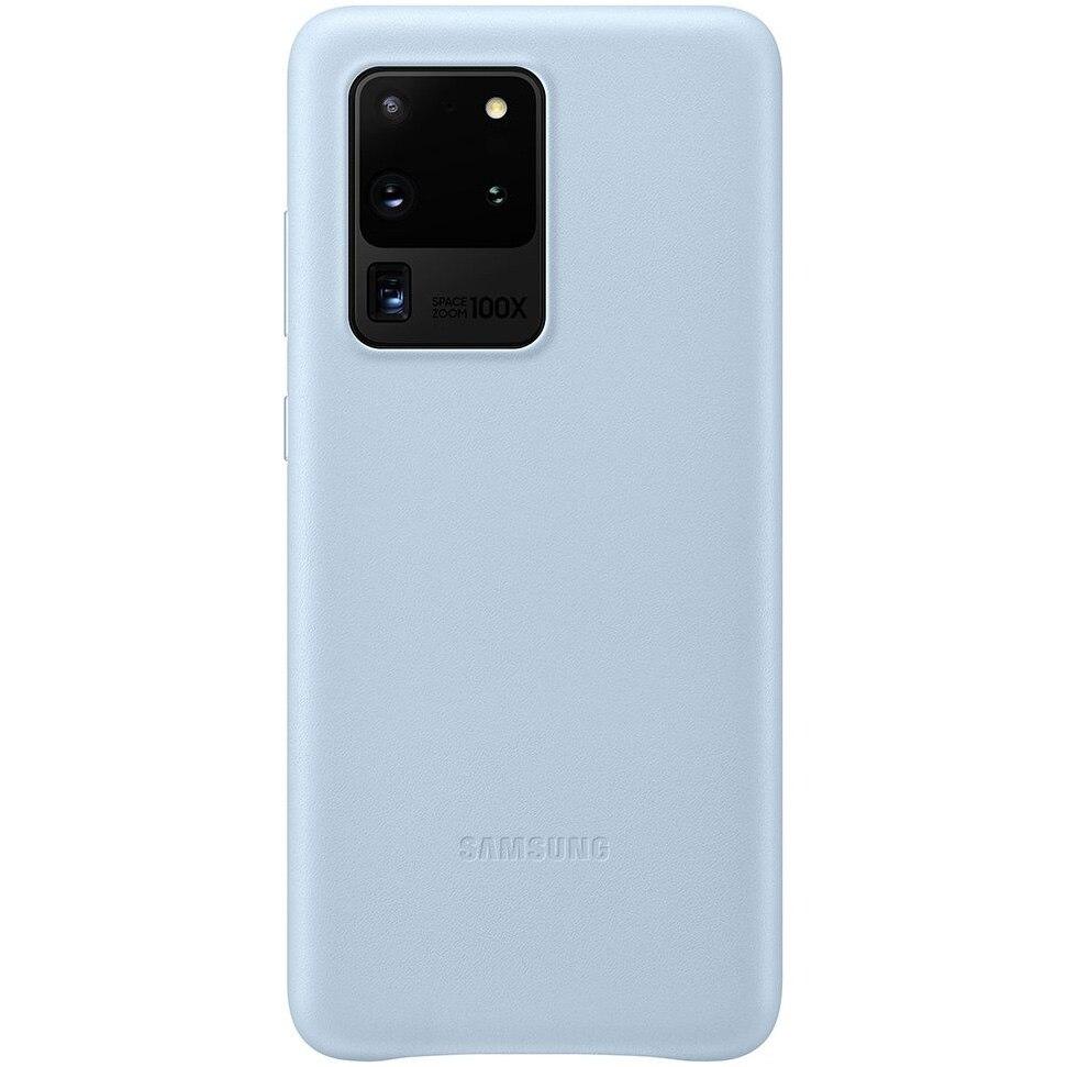 Fotografie Husa de protectie Samsung Leather Cover pentru Galaxy S20 Ultra, Sky Blue