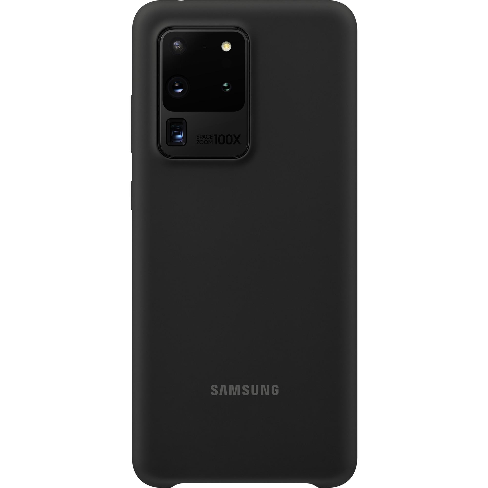 Fotografie Husa de protectie Samsung Silicone Cover pentru Galaxy S20 Ultra, Black