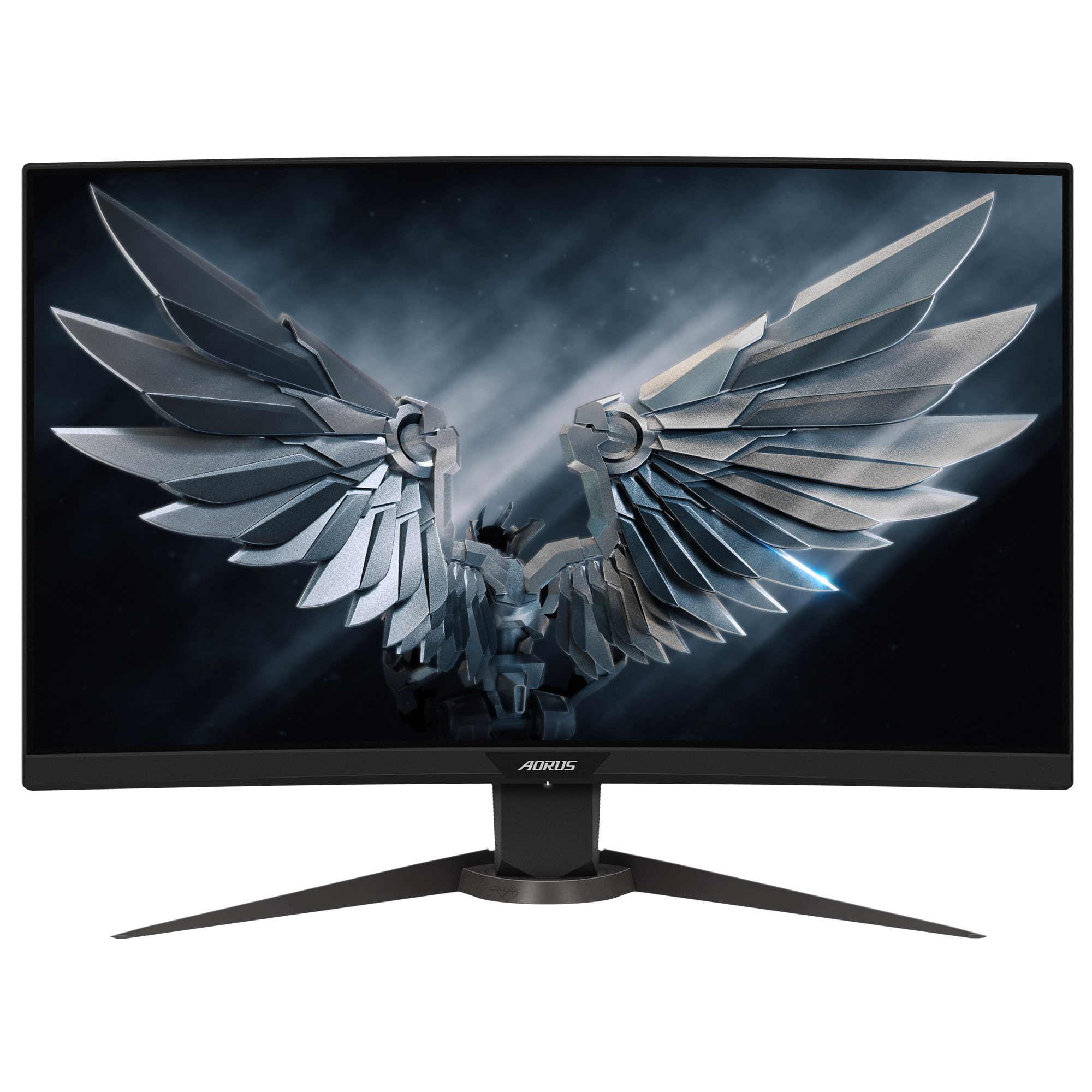 "Fotografie Monitor gaming curbat LED VA Gigabyte AORUS 27"", Full HD, DisplayPort, 165Hz, 1ms, Negru, CV27F"