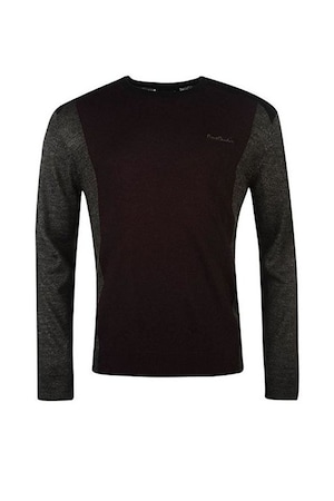 Мъжки пуловер Pierre Cardin Panel Knit, Сив/Черен, Черен/Сив