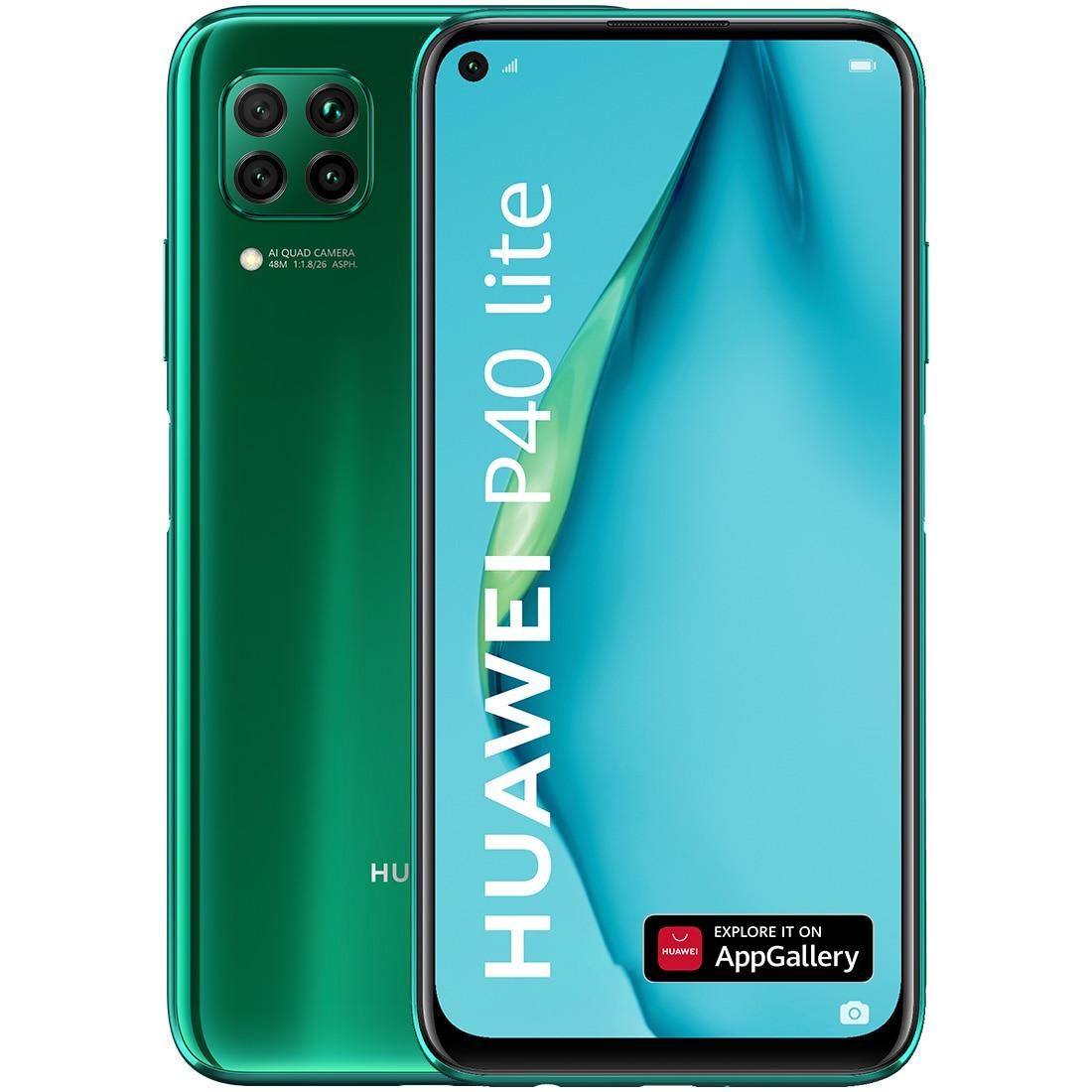Fotografie Telefon mobil Huawei P40 Lite, Dual SIM, 128GB, 6GB RAM, 4G, Crush Green