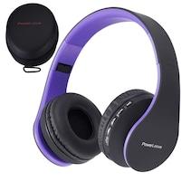 PowerLocus P1 Bluetooth fejhallgató, vezeték nélküli fül köré illeszkedő összehajtható, micro SD, FM Rádió (Lila)