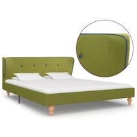 vidaXL zöld szövetkárpitozású ágykeret 140 x 200 cm