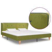vidaXL zöld szövetkárpitozású ágykeret 160 x 200 cm, Zöld