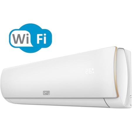 Aparat de aer conditionat Star-Light ACT-12EAWF, 3D Air Flow, Control WiFi, 3D Inverter, 12000 BTU, Functie incalzire, Clasa A++, Display, Alb