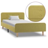 vidaXL zöld szövetkárpitozású ágykeret 90 x 200 cm, Klasszikus stílusú