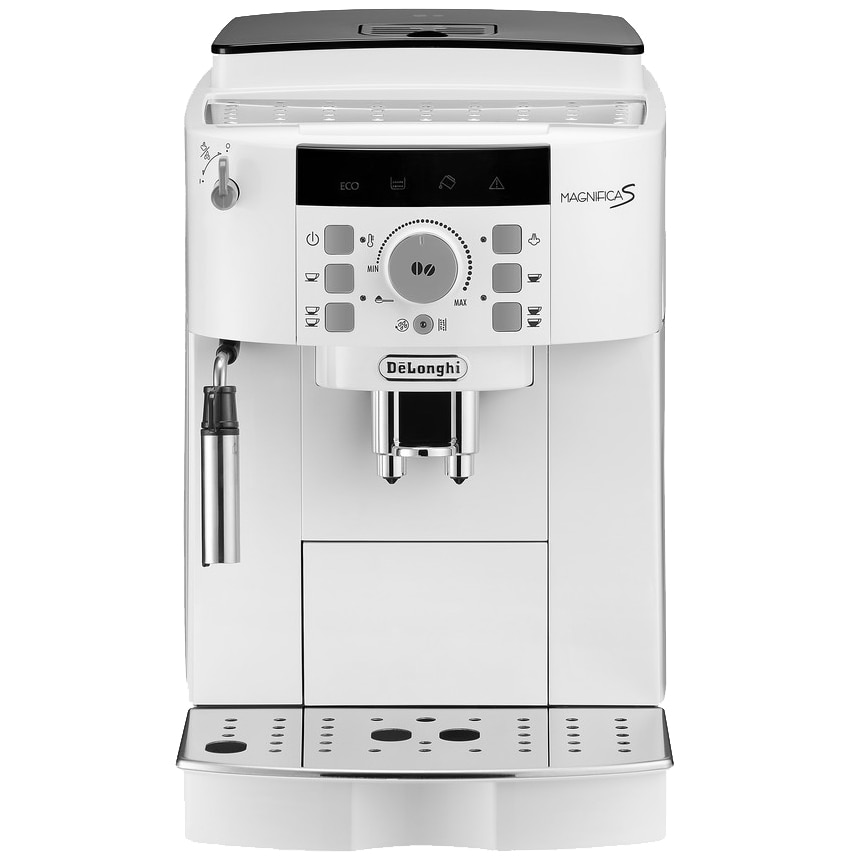 Fotografie Espressor automat De'Longhi Magnifica S ECAM 22.110.W, 1450W, 15 bar, rasnita inox, 1.8l, Alb