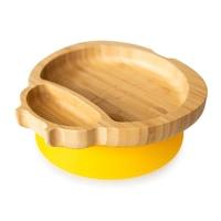 Bambusz tányér gyermekek számára, Katicabogár, Eco Rascals, sárga