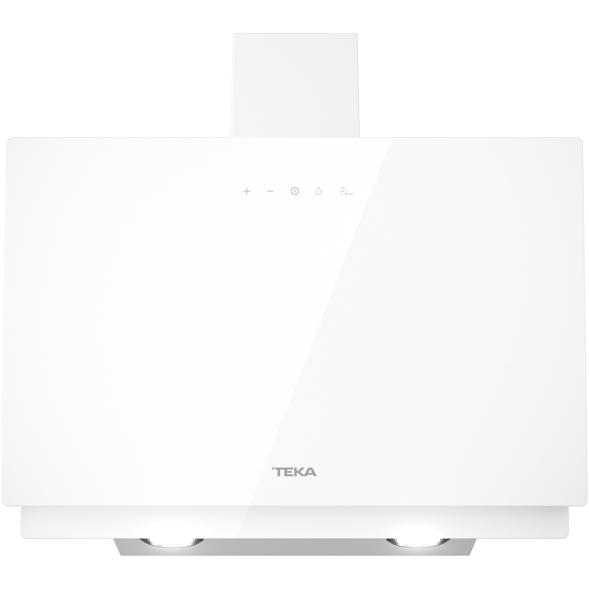 Fotografie Hota incorporabila decorativa TEKA DVN 64030 WHT, Putere de absorbtie 460 mc/h, Touch control, 60 cm, Sticla alba