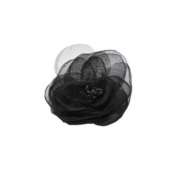 Brosa simpla tip floare din voal ,D&J Exclussive,negru